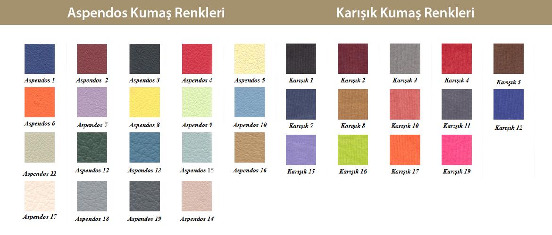 aspendos karışık kumaş renk seçenekleri