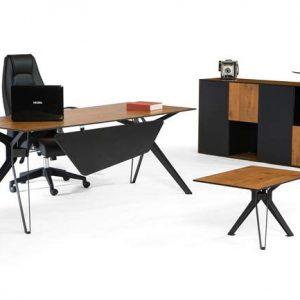 Lineer metal yönetici masası