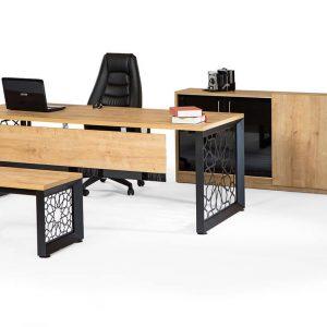 selçuklu metal ayaklı ofis masası